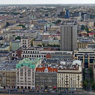 Warsaw panorama from Palace