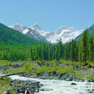 The Akkem Valley and mount Belukha